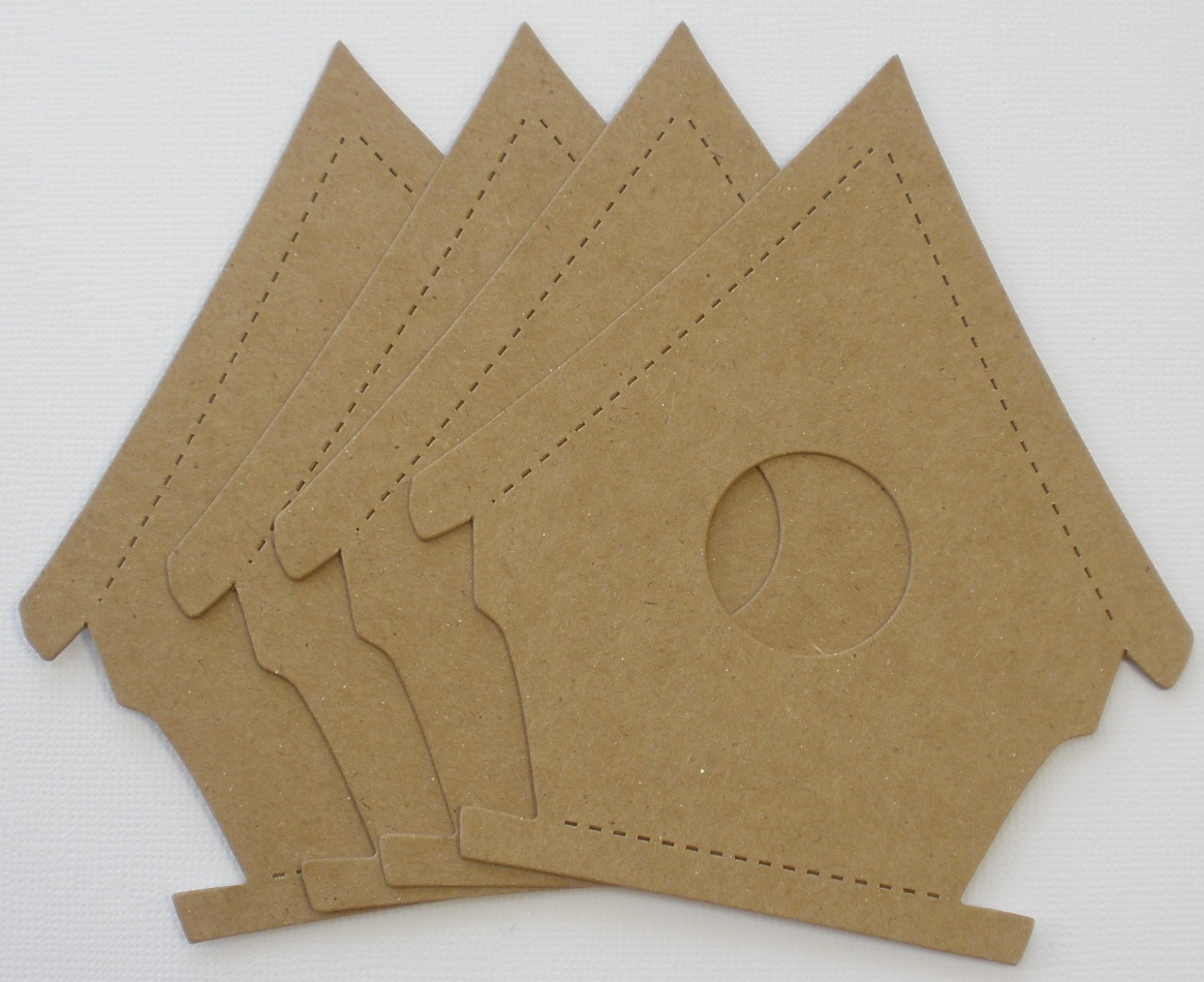 Chipboard Shapes Ideas ~ Bird house bare chipboard die cuts quot