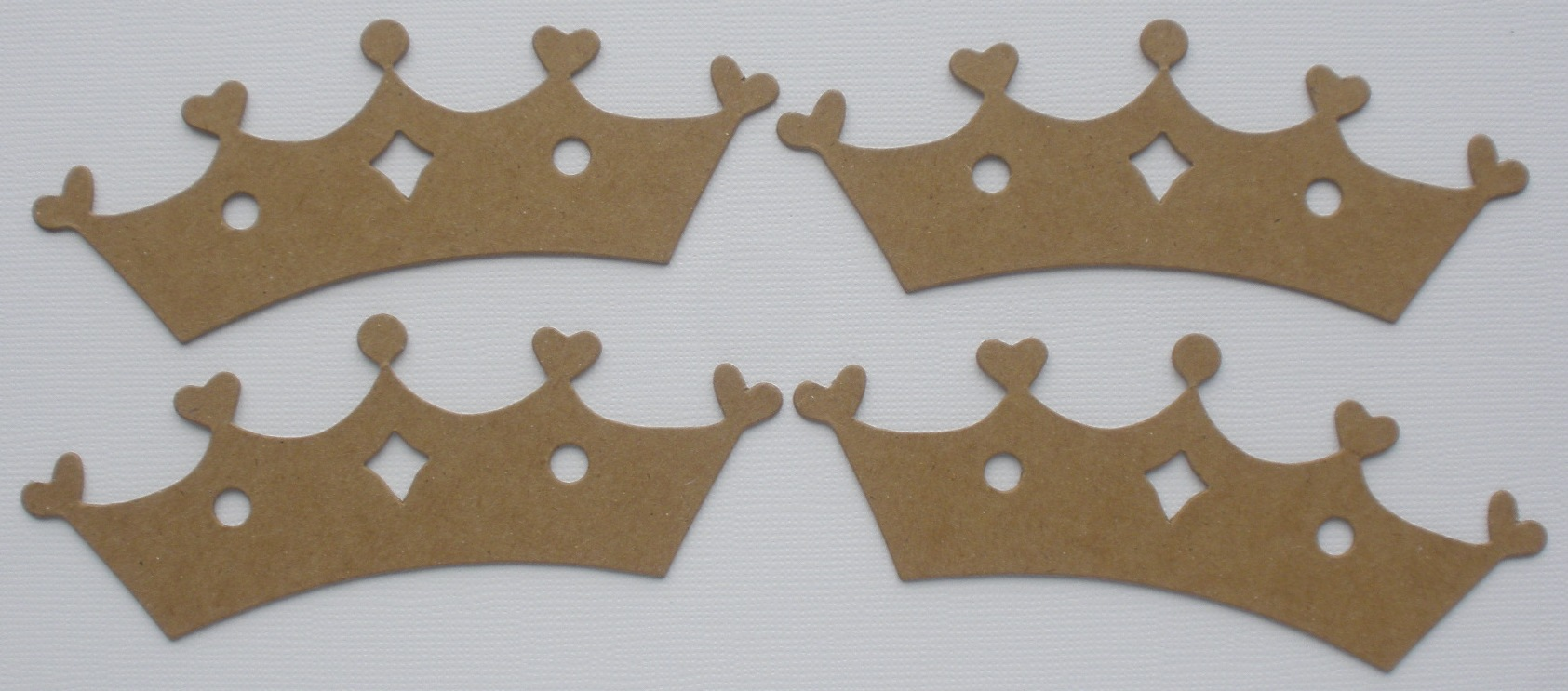 Chipboard Shapes Ideas ~ Princess tiara crowns raw chipboard die cuts ebay